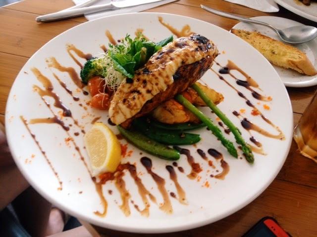 Grilled Honey Glazed Salmon; Yew's Cafe & Bistro @ Senibong Cove, Johor Bahru, Malaysia