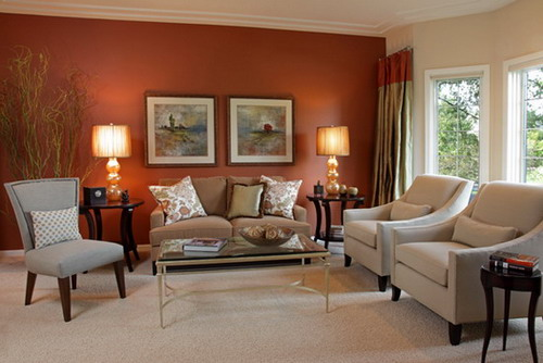 contemporary living room wall colors
