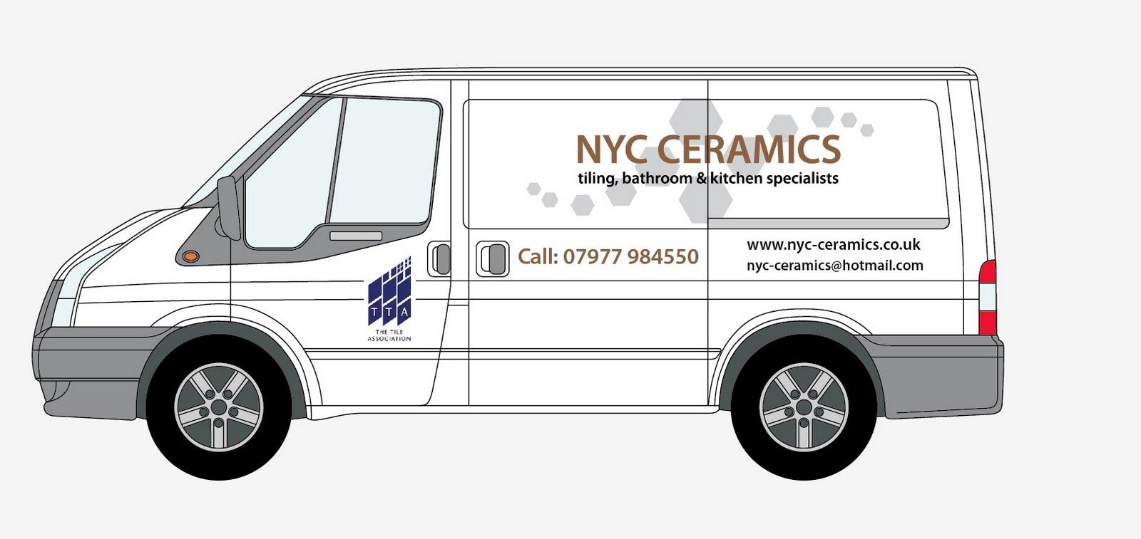 Nyc Ceramics: Sign writing for Nyc Ceramics new van?