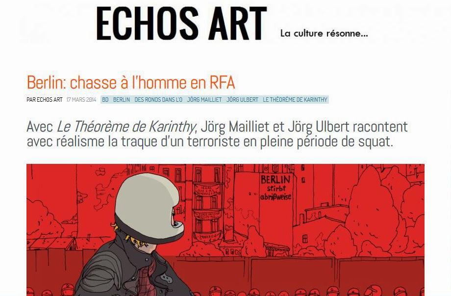 Lire l'article Berlin : chasse à l'homme en RFA sur Echos Art
