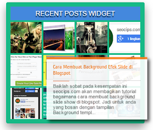 Artikel terbaru dengan gambar dan efek tooltip