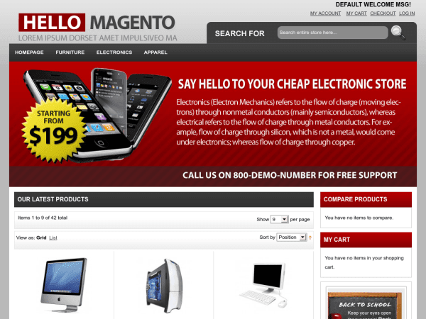 Free E-commerce Magento Theme
