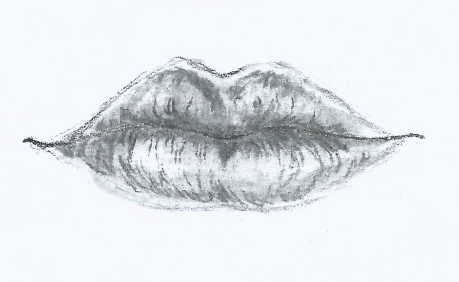 how to draw detailed lips