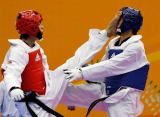 funny picture taekwondo kick in face