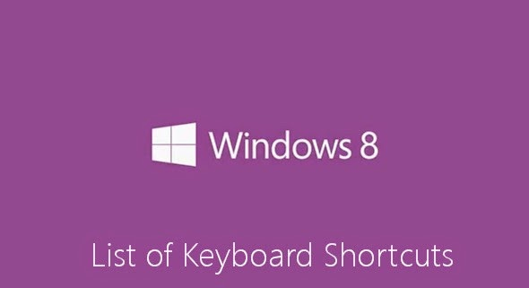 Window 8 Shortcut Keyboard Keys 2015