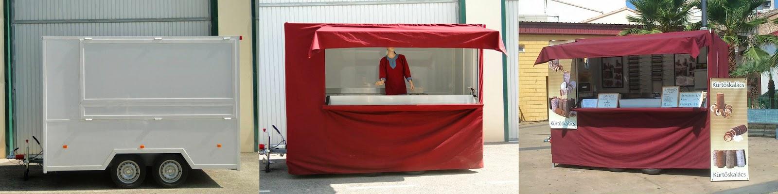 Chimney cake trailer