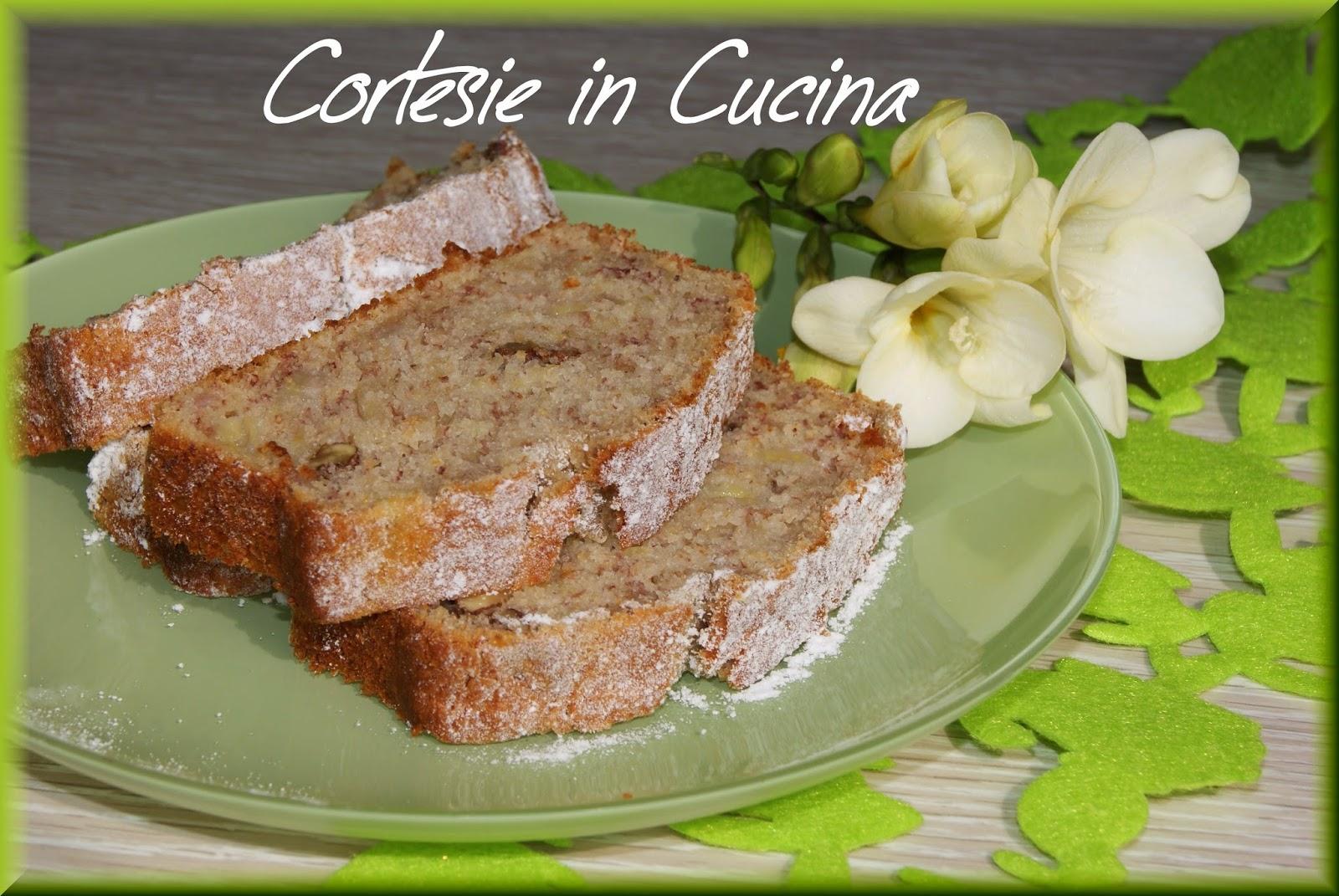 plum-cake con banane e noci ( senza colesterolo)