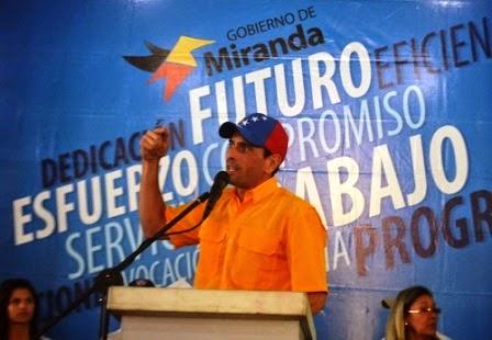Capriles pidió al pueblo oficialista no sacrificar su futuro por proyectos políticos