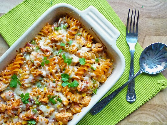 Creamy Chicken and Tomato Pasta Bake