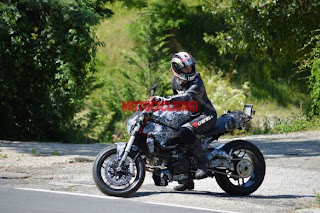 All new 2014 Ducati Monster spied in Italy