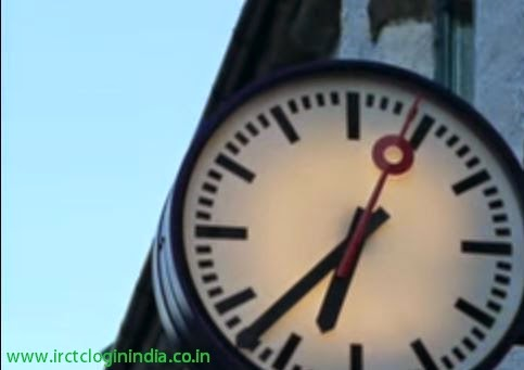 clock at railway