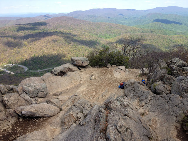 You can see all of Shenandoah National Park from atop Mary's Rock