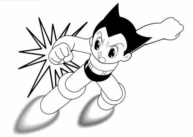 Ausmalbilder Astro Boy