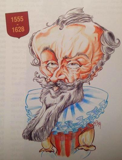 Caricature de François de Malherbe pour Patrimoine Normand par Guillaume Néel