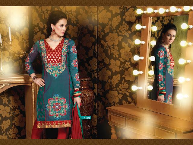 Dress material online shopping – Buy Online Salwar Kameez Suits