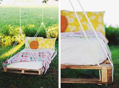 Reciclatex Idea para hacer una cama colgante de palet
