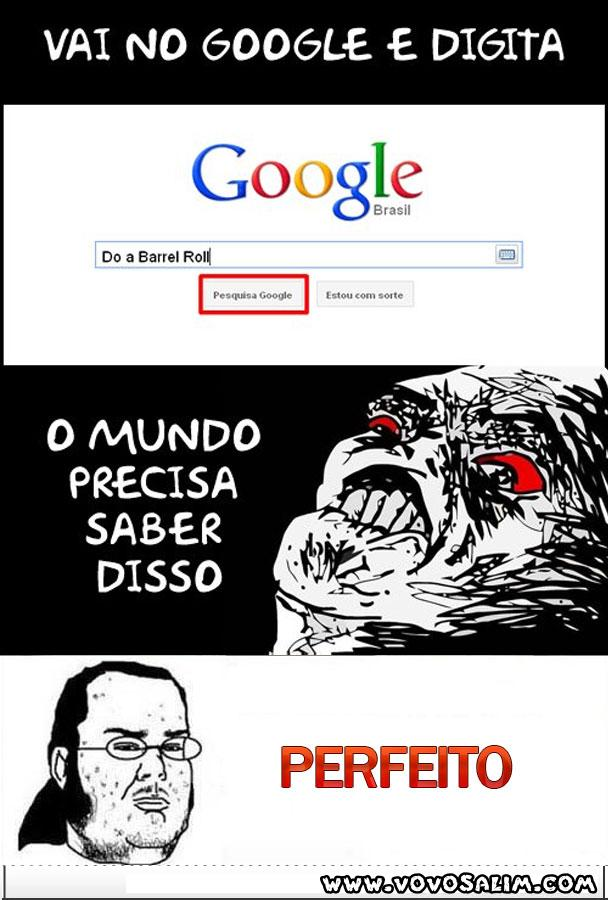 PErfeito google Do a barrel roll
