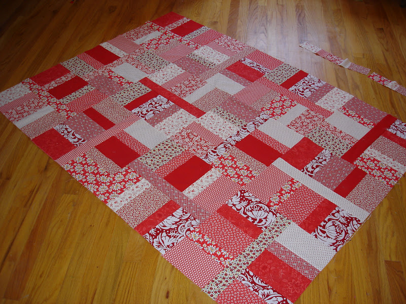 MOVING ON TO THE PAST: Quilt Top- Wickedly Easy Red : easy fat quarter quilt - Adamdwight.com