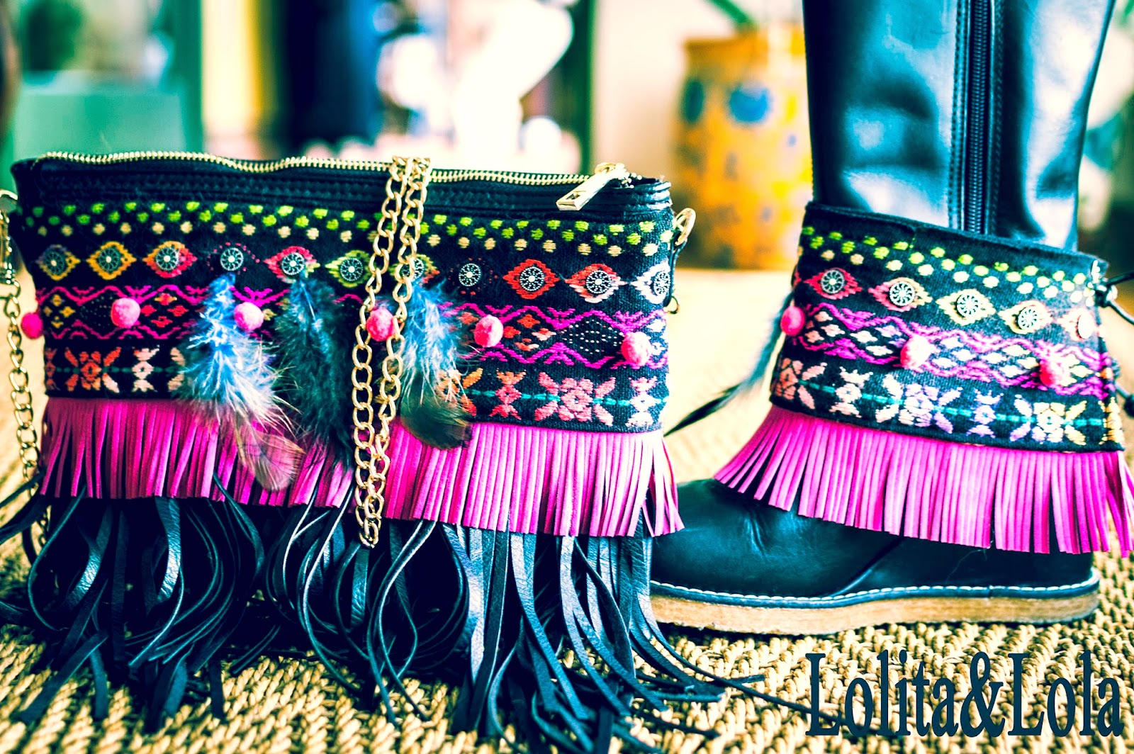 cover boots and bag indie. Cubrebotas y bolso a juego indie