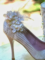 Ivory Tan Hydrangea Shoe Clips by Sofisticata