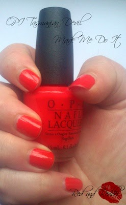 opi tasmanian orange red nail