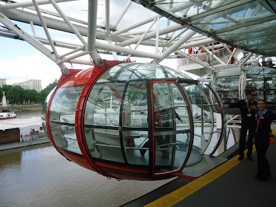 London Eye cabin ready for passengers