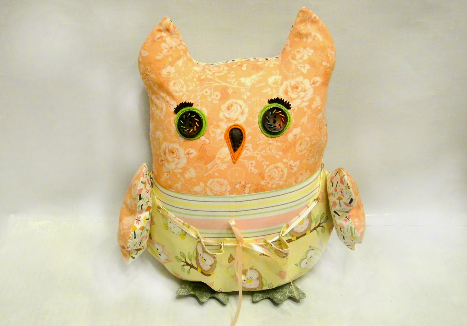 Подушка игрушка Сова - с кармашком для мелочей, крылышки и лапки двигаются