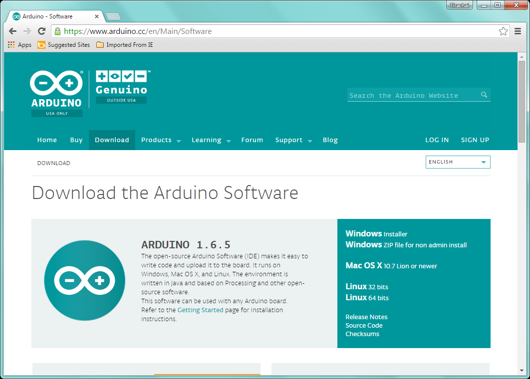 Arduino ide download zip