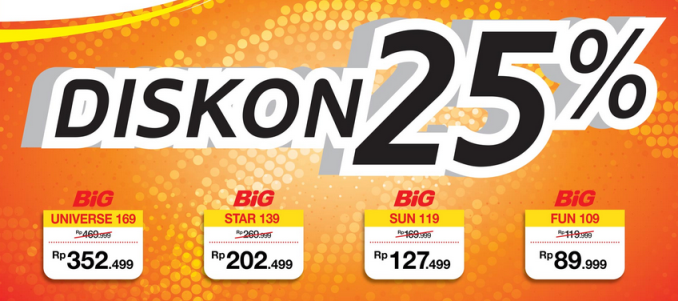 Promo Big TV Terbaru Bulan Januari 2015