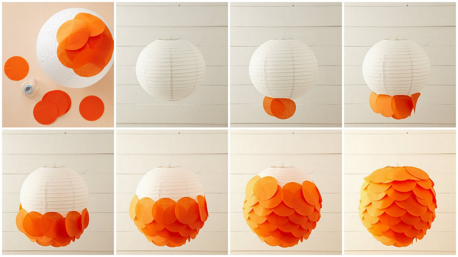 Bonafidebride DIY Project Sweet Whimsical Paper Lanterns
