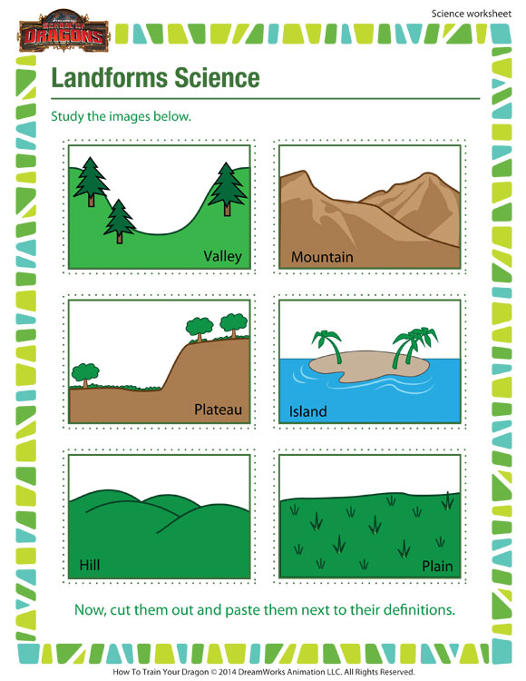 Massif image within landform printable worksheets