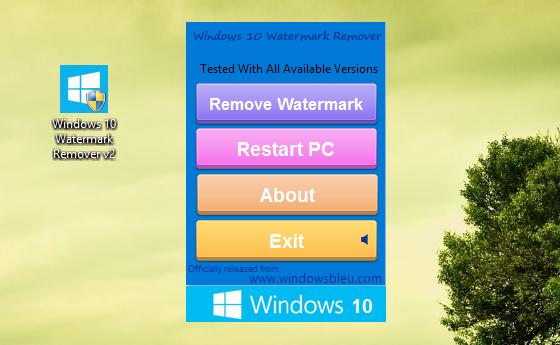 windows 7 water mark remover