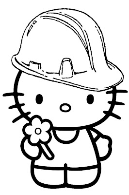 hello kitty head coloring pages
