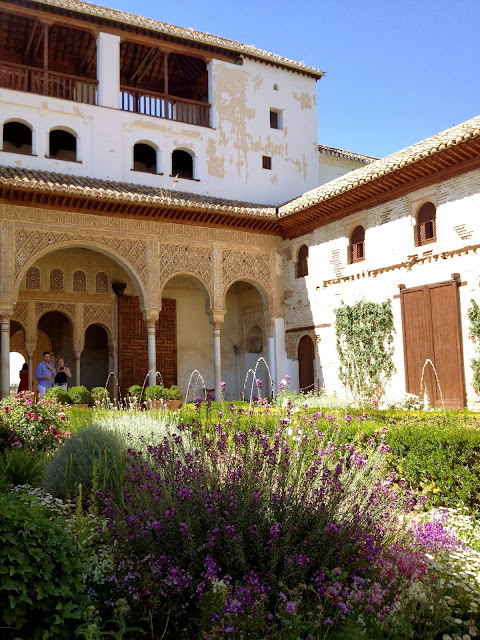 Alhambra courtyard on Semi-Charmed Kind of Life