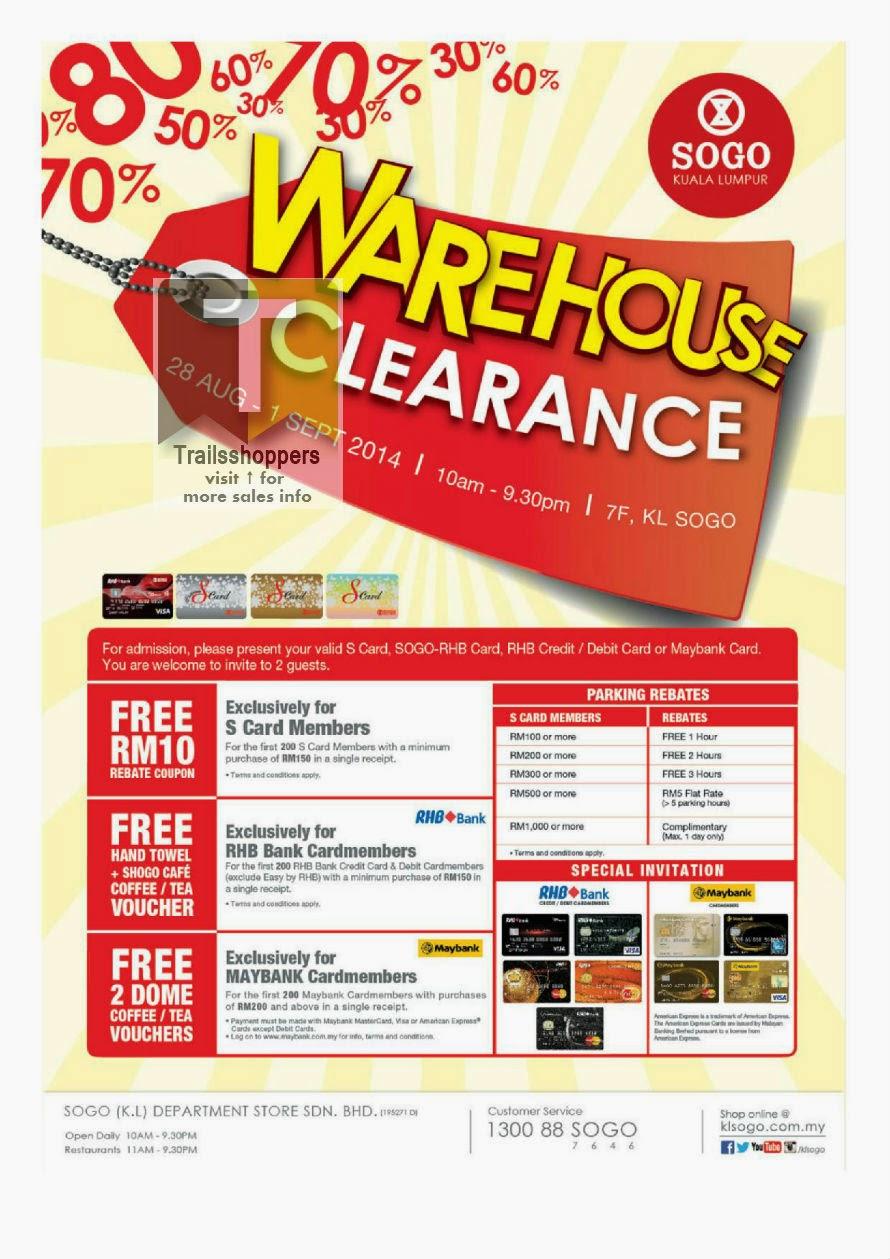 KL Sogo Warehouse Sale 2014 Kuala Lumpur