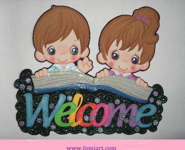 Letrero de bienvenida - Welcome | Fomiart