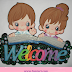 Letrero de bienvenida - Welcome