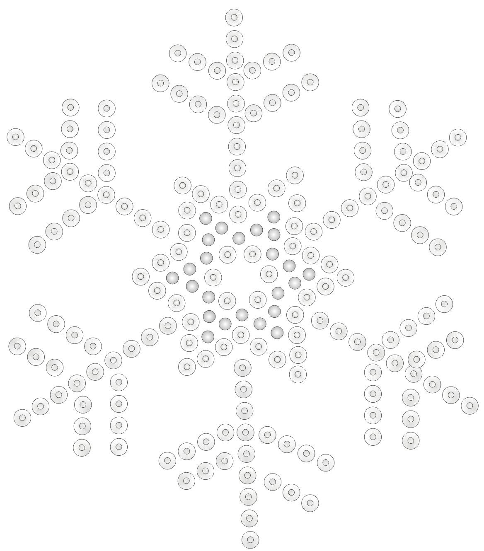Wunderbar Schneeflocke Schablone Vorlage Galerie - Beispiel ...