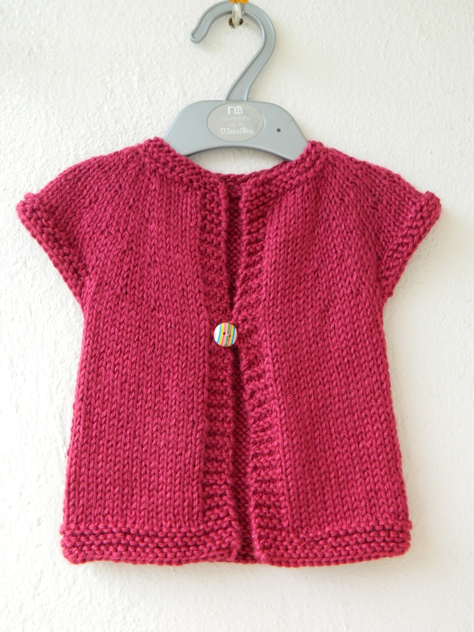 One Piece Sweater Knitting Pattern : Handmade by Knottygal: One baby sweater!
