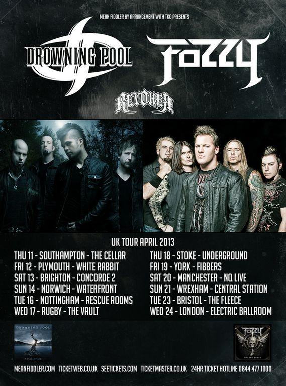 Drowning Pool Tour  Uk
