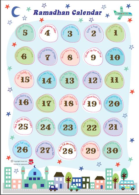 Ramadan Calendar Printables : The colours of million memories by juliet le sweetheart