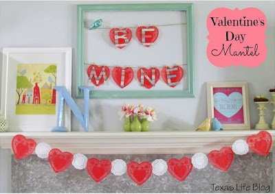 Colorful Valentine's Day Mantel