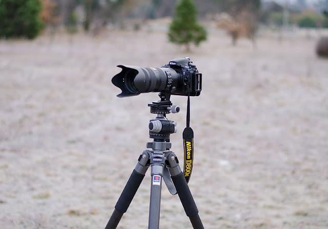 Nikon 70-200 f/2.8 VRii mounted on a Nikon D800e