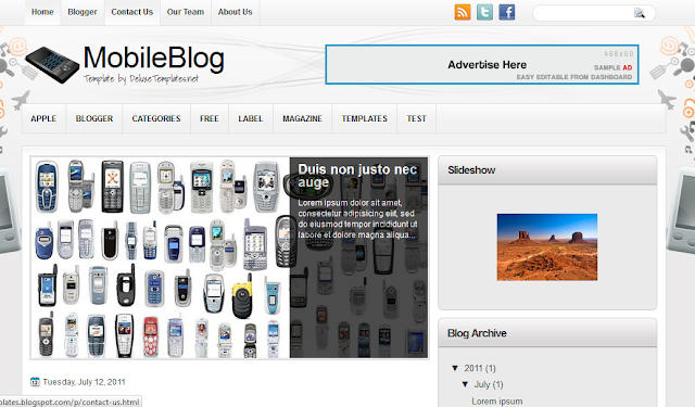 Mobile Blog Blogger Template