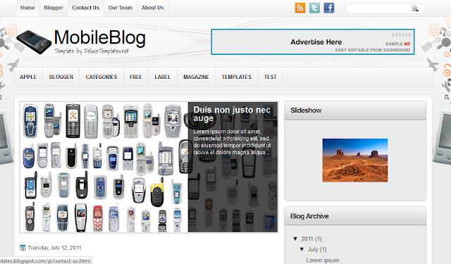 Mobile Blog Blogger Template