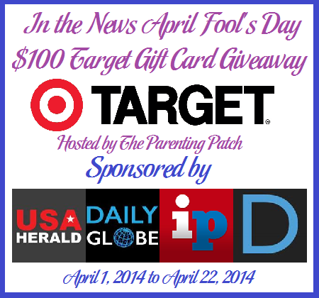 Enter the April Fool's Day $100 Target Gift Card Giveaway. Ends 4/22.