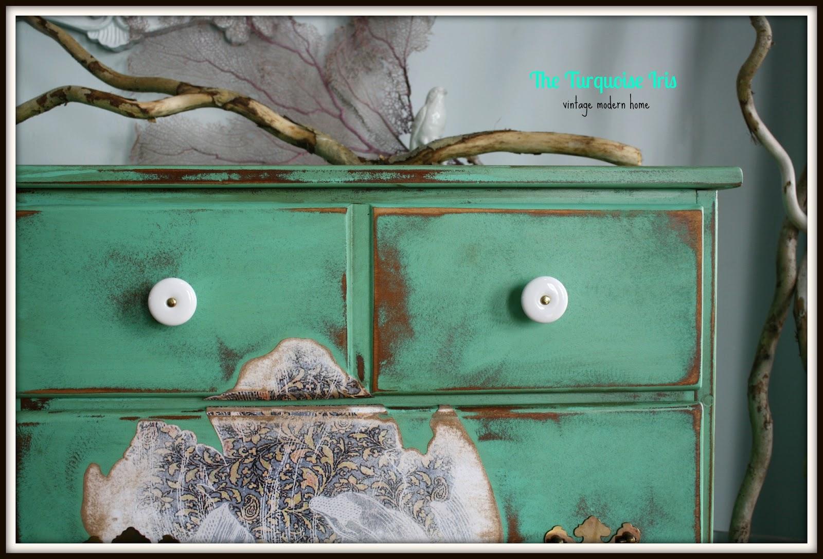 Distressed green dresser bestdressers 2017 for Mint green furniture paint