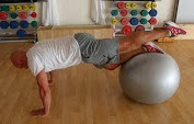 gainage antérieur swiss-ball