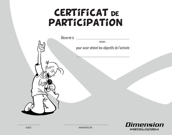 certificat réalisé dans le cadre de dimension sportive et culturelle