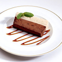 Schokoladencreme auf Teller